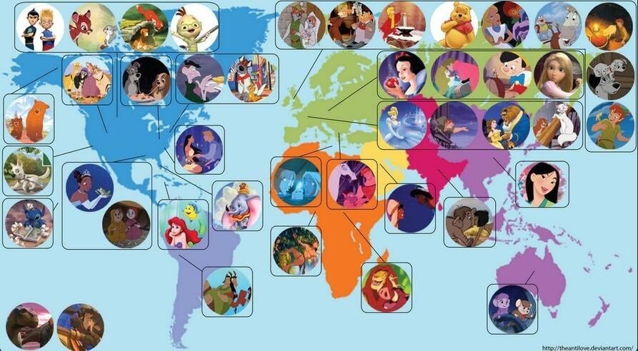 エオウィン・スミス氏が作成したディズニー世界地図