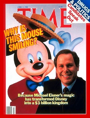 Michael Eisner, CEO of The Walt Disney